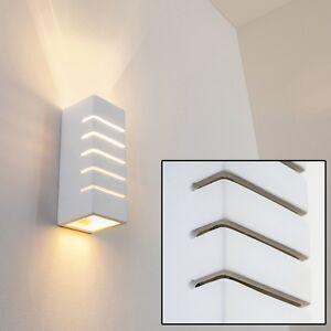 Applique lampada da parete design rettangolare gesso bianco da ...