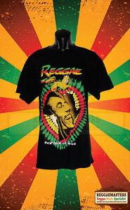 BOB MARLEY ONE LOVE BLACK T SHIRT ROOTS REGGAE RASTA V2