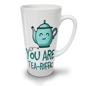 Terrific NEW White Tea Coffee Latte Mug 12 17 oz   Wellcoda