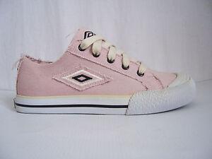 Chaussures-fille-femme-Umbro-neuves-toile-Solok-pointure-37-coloris-vieux-rose