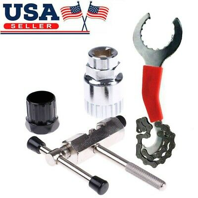 US Mountain Bike Bicycle Chain Flywheel Axis Extractor Removal Repair Tool Kits