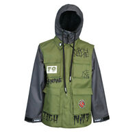 Technine Exploited Vest Snowboard Jacket Army Green Medium-2xlarge Ds 15