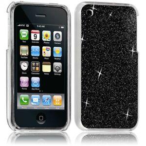 Détails sur Housse Etui Coque Rigide pour Apple iPhone 3G/3GS Style Paillette Couleur Noir