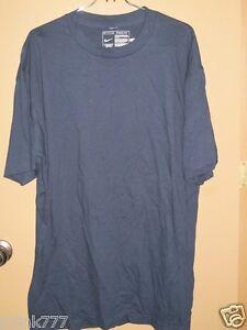 S158-New-NIKE-Round-Neck-Men-039-s-T-Shirt-from-USA-XL-Dark-Blue