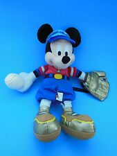 """Mickey Mouse Baseball Plush Doll 11"""" with Hat Ball and Glove  Disneyland"""