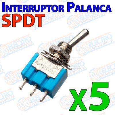 2x MINI INTERRUPTOR PALANCA 2 POSICIONES SPDT 250Vac-3A CONMUTADOR 3 PIN SWITCH