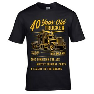 Image Is Loading Funny 40 Year Old Trucker Retro Truck Driver