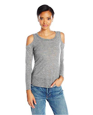 Splendid Womens Cut Out Cold Shoulder Long Sleeve Sweater