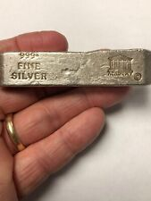 """2 Troy Oz  /""""Build The Wall Make America Great/"""" Hand Poured .999 Fine Silver"""
