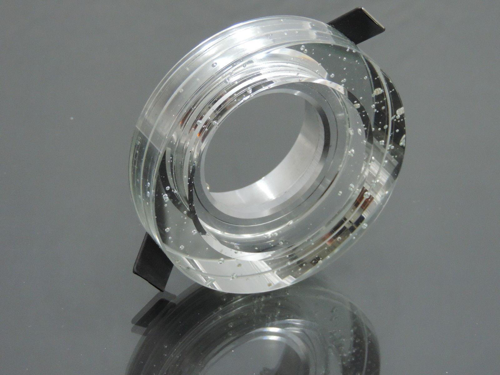5 x Kristall Einbaustrahler  Spot  Downlight für LED glas klar Blaubber  9385