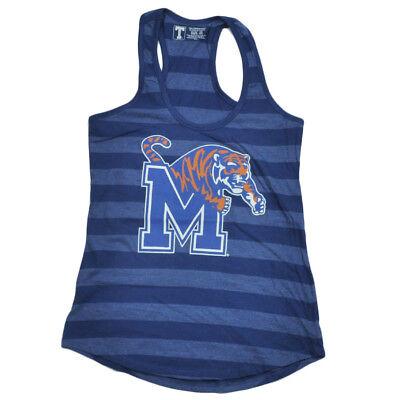 Fanartikel Baseball & Softball Begeistert Ncaa Memphis Tigers Blau Gestreift Racerback Tank Top Shirt Damen Sport Den Speichel Auffrischen Und Bereichern
