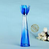 Vintage Blue Crystals Glass Spray Perfume Bottle Atomizer Refillable Empty16ml