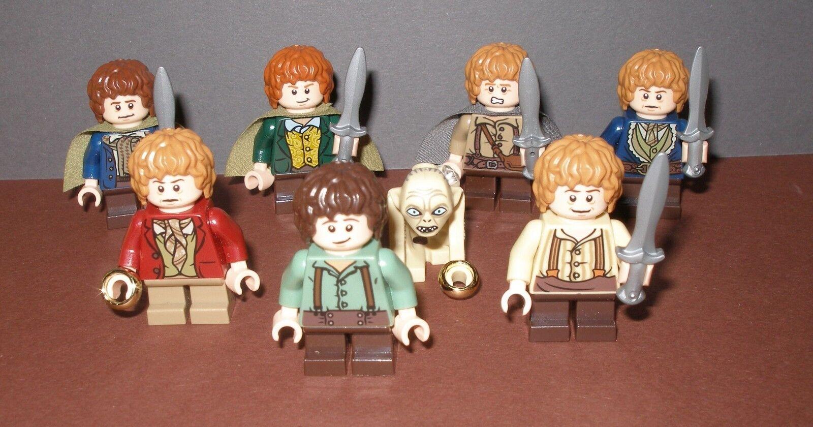 Lego Herr der Ringe   Der Hobbit  Auswahl Minifiguren   Hobbits  auch Gollum etc