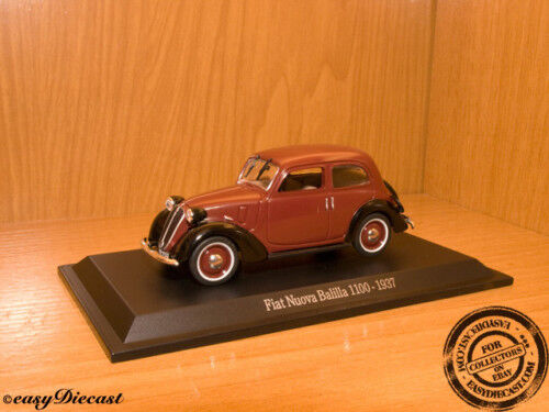 NUOVA BALILLA 1100 BROWN 1937 SEAT FIAT