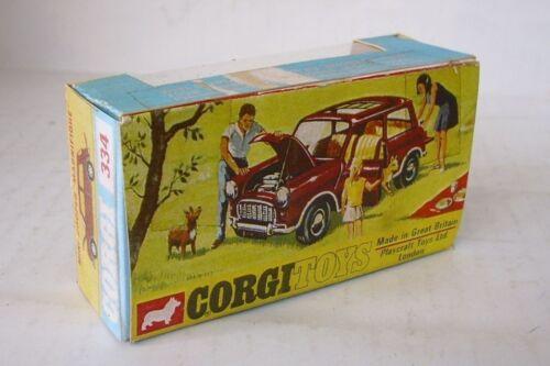 Repro Box Corgi Nr.334 Mini Cooper Magnifique