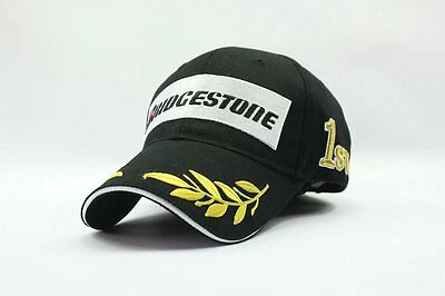 Men motorcycle POLO baseball cap hat Black Bridgestone f1 sport outdoor cap hat
