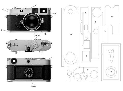 2x Leica M6 Clásico Translucent 360 ° Film Protector de protección Envuelva Pegatina