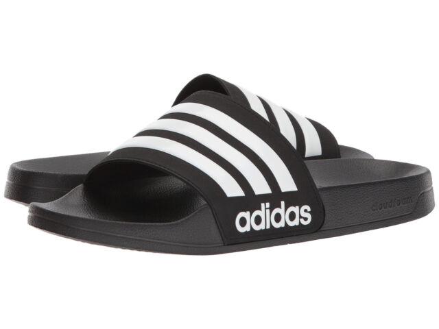 41277ffa83f7b Men adidas NEO CF Adilette Slide Sandal AQ1701 Core Black White Core Black  NEW