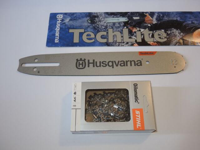 """Schwert passend für Husqvarna 338XPT 30 cm 3//8"""" 1,3 mm 45 TG Führungsschiene"""