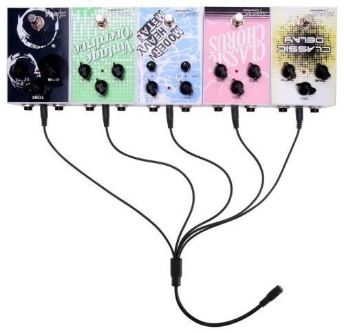5fach Verteiler Kabel Gitarre Effekt Pedale Effektgeräte Netzteil Stromverteiler