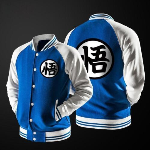 New Anime Dragon Ball Goku Varsity Jacket Autumn Casual Sweatshirt Hoodie Coat B