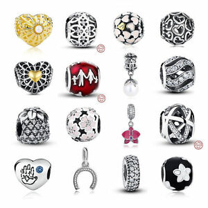 New-Women-925-Sterling-Silver-Charms-beads-Pandent-fit-European-Chain-Jewelry