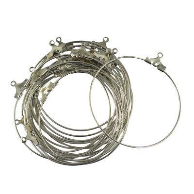 20PCS 40MM Wholesale Lot Silver Plate Hoops Earring Jewelry Making Findings