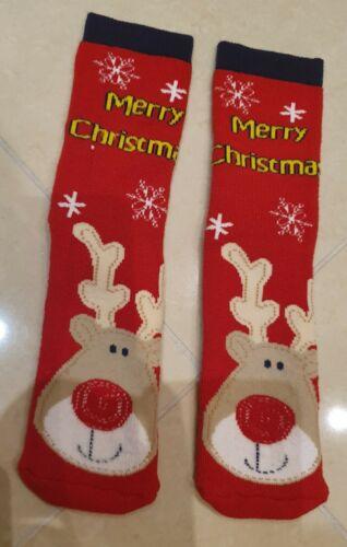 Bambini Adulti Ragazzi Ragazze Natale Calzini Antiscivolo Antiscivolo EU 25-41 UK 7inf-8