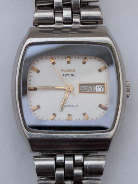 Vintage HMT Arvind 21 jewels automatic day date watch
