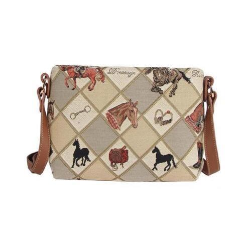 Signare Womens Tapestry Fashion Shoulder Handbag Across Body Equestrian Sport