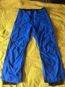 32-ThirtyTwo-Mens-Snowboarding-XL-Ski-Pants-Blue-Shiloh-Cargo-Burton-Ride-Snow