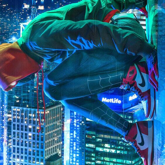 NIKE AIR JORDAN 1 Retro I Spider Man Origin Story Sz 8.5 NEW High OG 555088-602