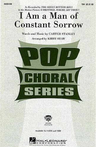 Carter Stanley I Am A Man Of Constant Sorrow Vocal Voice Learn Play Music Book