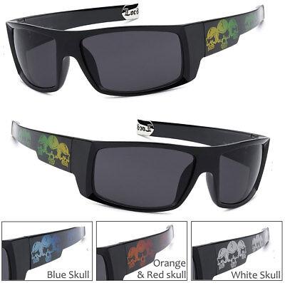 Locs Mens Cholo Gangsta Rectangular OG Style Biker UV400 Sunglasses Black LC01