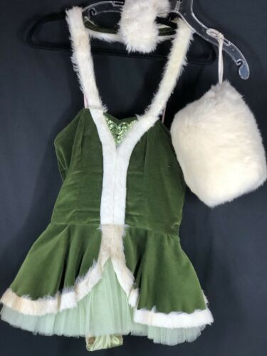 Vintage Girl Green Costume/outfit Dance 60's With