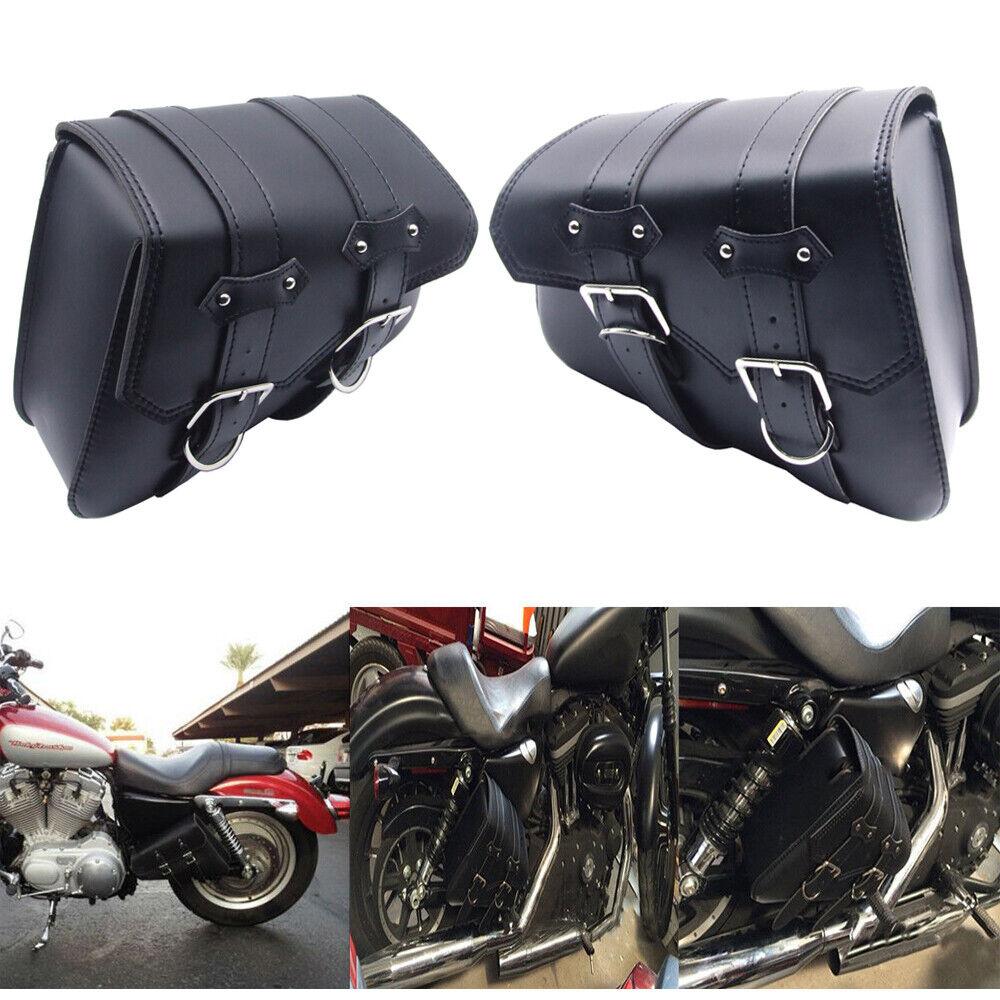 Pair Motorcycle Solo Saddlebag Side Swing Arm Bag for Harley Davidson Sportster