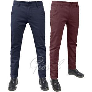 Pantalone-Uomo-Mod-Tasca-America-Chino-Cotone-Slim-Elastico-Colori-Vari-GIOSAL