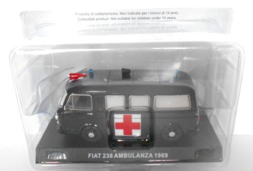 Die cast 1//43 Modellino Furgone Carabinieri Fiat 238 Ambulanza 1969 SC.2-D