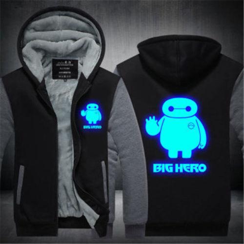 Anime Big Hero 6 baymax Unisex Thicken Jacket Sweater Hoodie Coat Cosplay