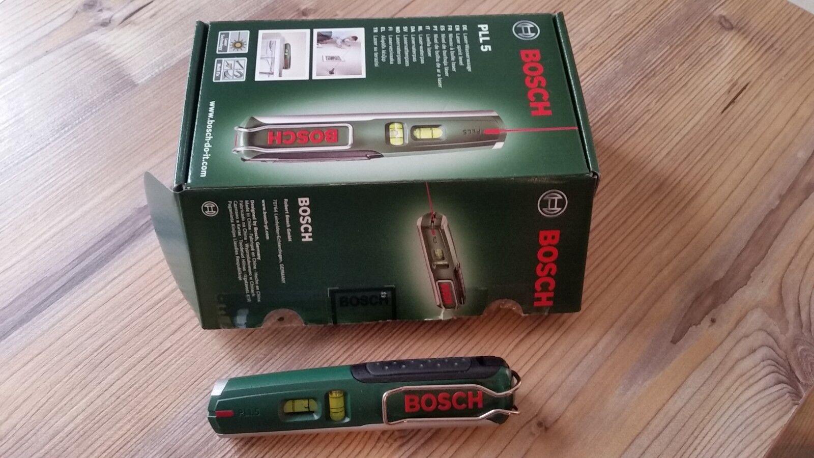 Bosch Laserwaage PLL 5 neu mit Batterien