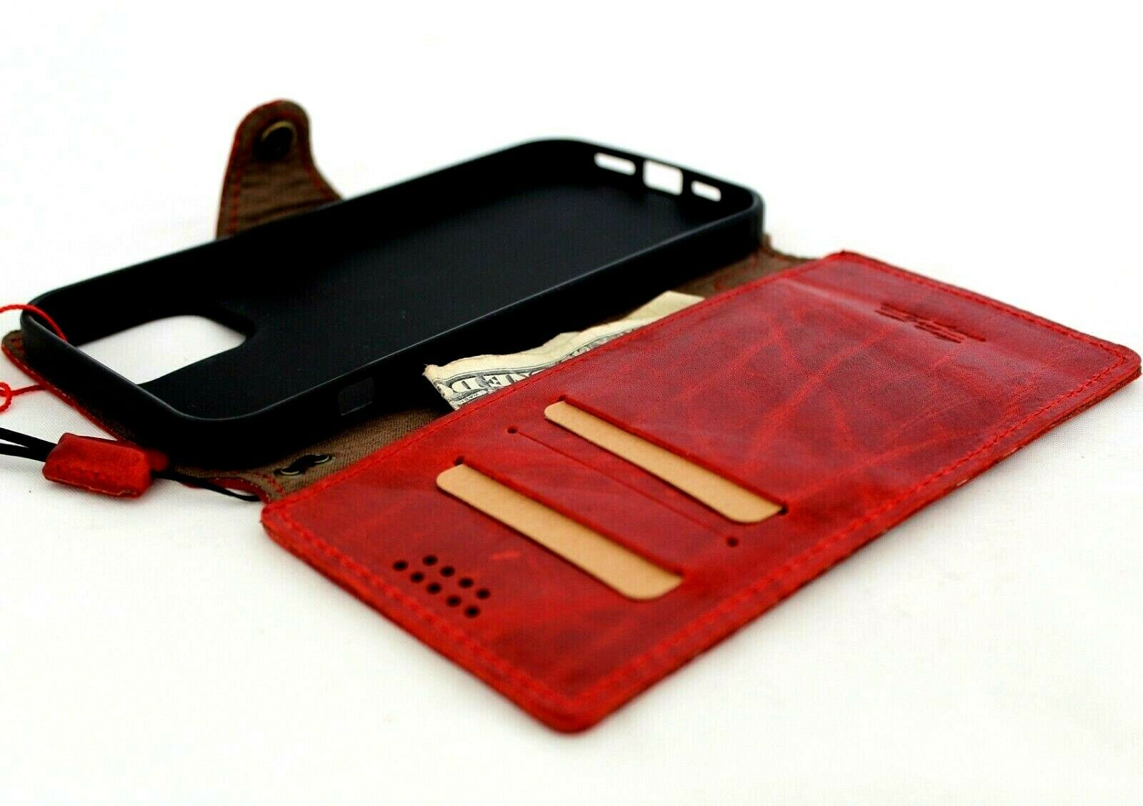 Image 11 - Genuine Real Leather Case For Apple iPhone 12 Pro Max Wallet Luxury Cover soft