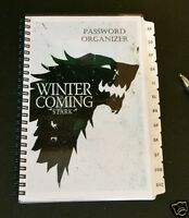 Password Book Internet Website Organizer A-z Tabs Game Of Thrones Personalized