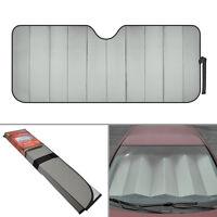 Standard Auto Sun Shade Foldable Metallic Gray Wind Shield Lid Reversible Shade