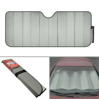 Standard Auto Sun Shade Foldable Metallic Gray Wind Shield Lid Reversible Shade on sale