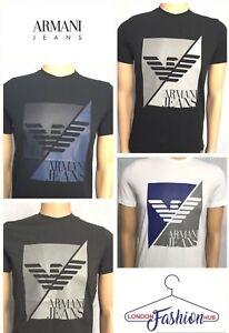 Brand-New-Mens-039-Armani-Jeans-Crew-neck-T-shirt-6Y6T11-6J0AZ-Split-Square