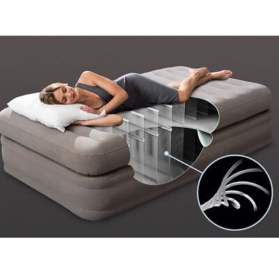 new concept 6df89 d91d5 Intex 64443EP Inflatable Prime Comfort Elevated Airbed Mattress with  Built-in Pump, Twin