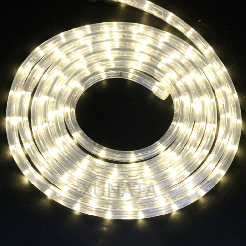 220V LED Rope Light Wire Tube Strip String Lights Garden Fence Patio Decorations