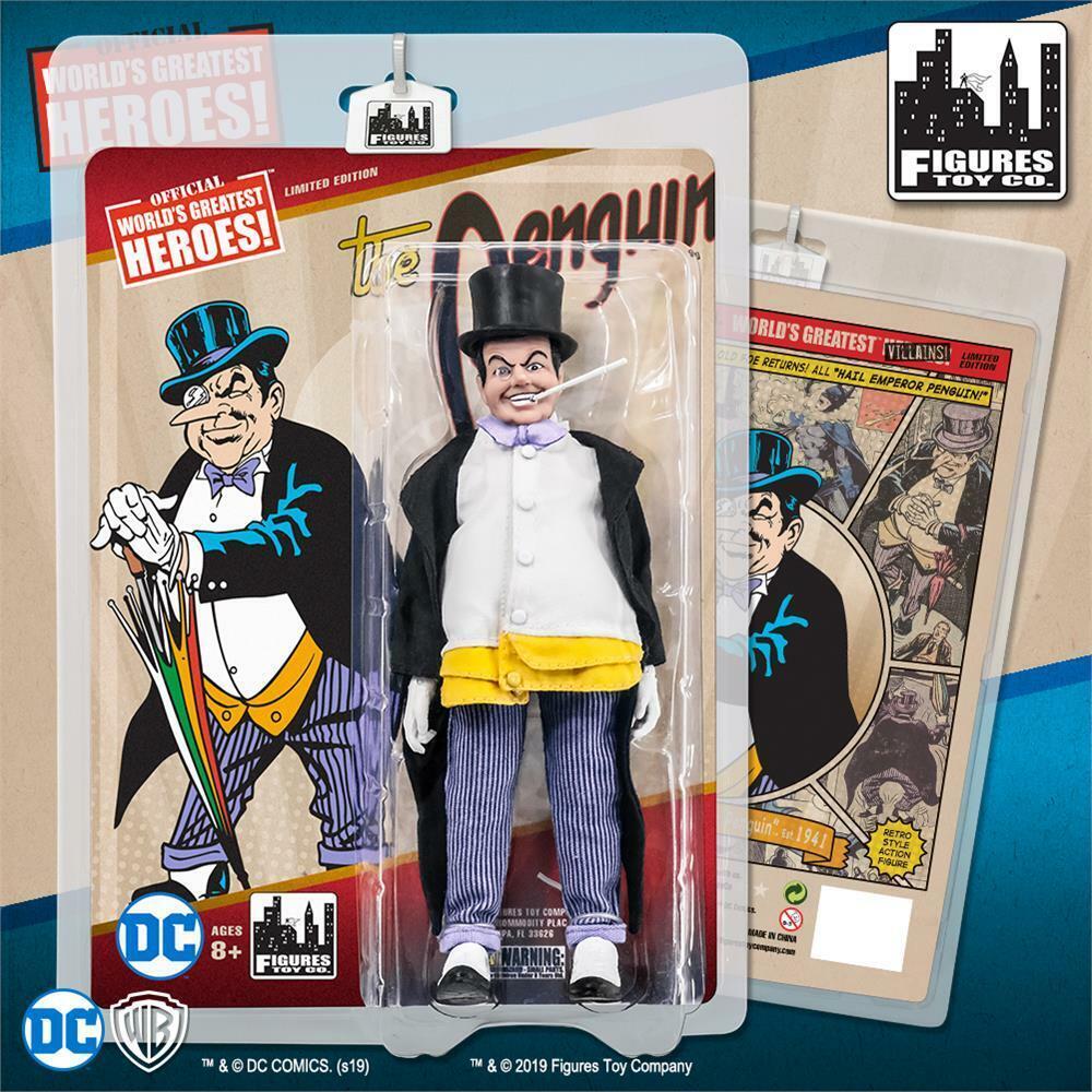 DC Comics Bathomme Rétro 8 in  (environ 20.32 cm) action figure le pingouin NEUF  beaucoup de surprises