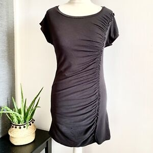 WHISTLES-Stretchy-ruched-Top-Size-10-black-Smart-CASUAL-Work-Office