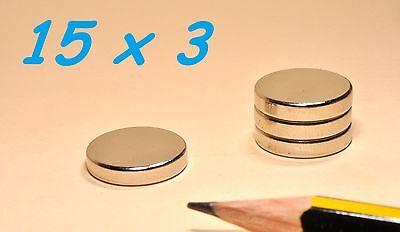 Qualificato 5 Magneti Neodimio 15x3 Mm Calamita Potente Fimo Ceramica Magnete Calamite Valore Eccezionale